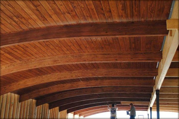 Arched Wood Ceiling